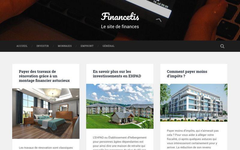 Financetis, le site de finances