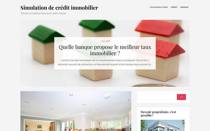 Simulation de crédit immobilier - Trouvez le meilleur taux pour votre maison